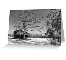 North Carolina Log Shed Greeting Card