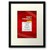 Test Track Fastpass Framed Print