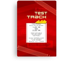 Test Track Fastpass Canvas Print