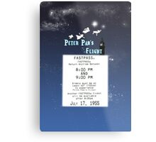 Peter Pan's Flight- Fastpass Metal Print