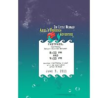 Ariel's Undersea Adventure- Fastpass Photographic Print