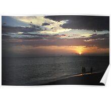 Lido Beach Sunset Poster