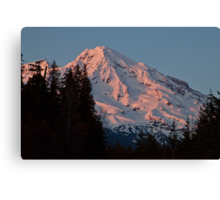 Mt. Rainier at Sunset Canvas Print