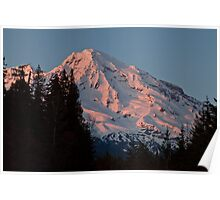 Mt. Rainier at Sunset Poster