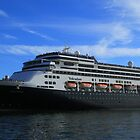 Volendam Arriving IN Sydney by Yvonne Kirk