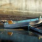boat against wall by dougf