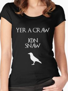 Jon Snow you're a crow Women's Fitted Scoop T-Shirt