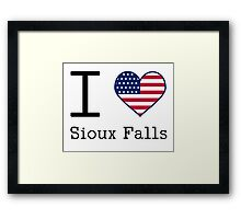 I love Sioux Falls Framed Print