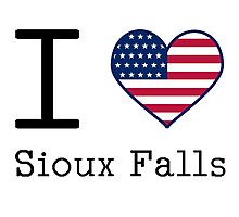 I love Sioux Falls Photographic Print