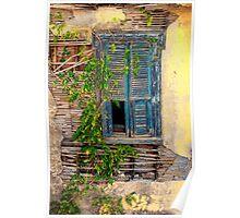 Rustic Window - Samos Island, Greece Poster