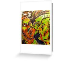 Zombie Love Triangle Greeting Card