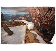 Snow on the South Rim Poster