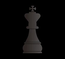 Black king chess piece by peculiardesign