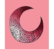 Pink Moon Crest Photographic Print