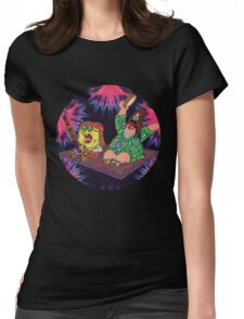 Psychedelic Sponge Womens Fitted T-Shirt