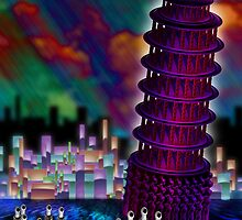 The Leaning Tower of Purple Pisa by GolemAura