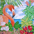 Tropical Flamingo by joeyartist