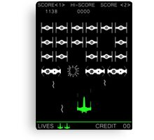 Star Wars Space Invaders! Retro Star Wars Shirt Canvas Print
