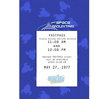 Space Mountain Fastpass Photographic Print