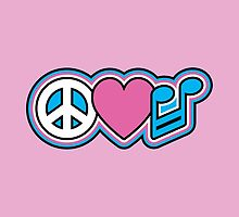 PEACE LOVE MUSIC Symbols by Lisann
