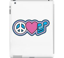PEACE LOVE MUSIC Symbols iPad Case/Skin