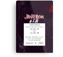 Haunted Mansion Fastpass Metal Print