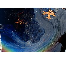 Color puddle Photographic Print