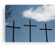 3 Crosses Canvas Print