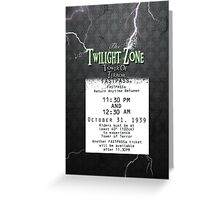 The Tower of Terror- Fast Pass Greeting Card