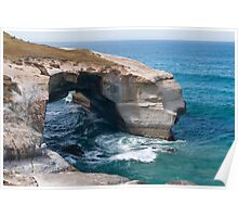 Arch at Tunnel Beach Poster