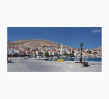 Halki Harbour Panorama One Piece - Short Sleeve