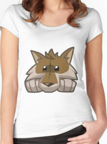 Animal Jam Wolf Plushie Women's Fitted Scoop T-Shirt