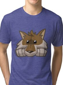 Animal Jam Wolf Plushie Tri-blend T-Shirt