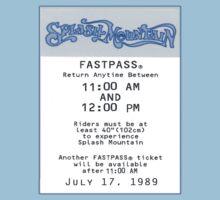 Splash Mountain Fastpass Kids Clothes