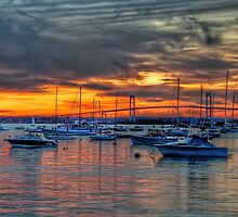 Sunset over Marina by JHRphotoART