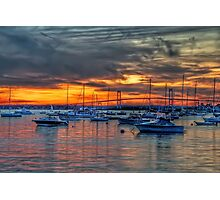 Sunset over Marina Photographic Print