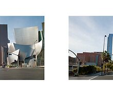 Grand Avenue + 1st Street (southwest), Downtown, Los Angeles, California, USA...narrowed. by David Yoon