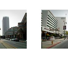 Wilshire Boulevard + Curson Avenue, Miracle Mile, Los Angeles, California, USA...narrowed. by David Yoon