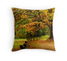Autumn Trail at Deer Lake, Burnaby, BC Throw Pillow