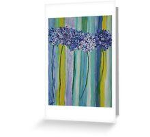 Hydrangeas and Stripes Greeting Card