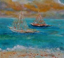 Sunset Sailing by Christine Clarke
