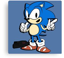 Sonic - 2015 SEGABits Design Canvas Print