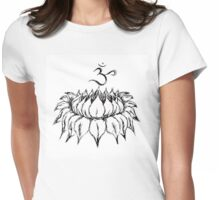 OM LOTUS  Womens Fitted T-Shirt