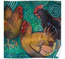 Three Chickens Poster