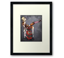 Lady Tina of Blowupyourfaceheim Framed Print