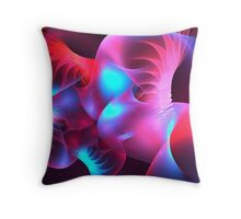 Feather Coral Throw Pillow