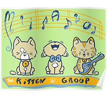 Cute singing kittens Poster