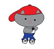 Rapper Cat in Tank Top Photographic Print