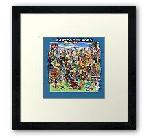 Cartoon Heros Framed Print