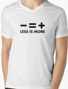 Less is More Mens V-Neck T-Shirt